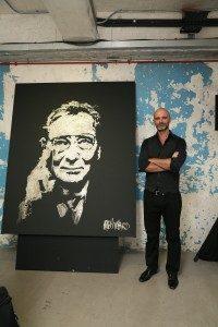 glitter-painting-portrait-Roger Dubuis-hong-kong-raivard