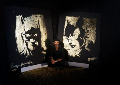 Live Painting Banque populaire evenement catwoman batman france paris michael raivard