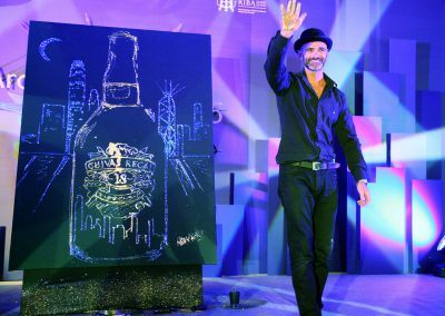 Live Painting Chivas Hong Kong corporate event Michael Raivard