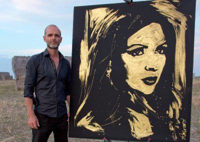 Portrait Paillette Russie commande portrait Michael Raivard