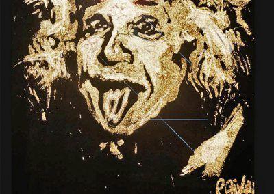 Speed Painting Einstein France Paris evenementiel Michael Raivard
