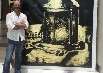 Speed Painting Karem Abu Dhabi Emirats Arabes Unis exbition Michael Raivard