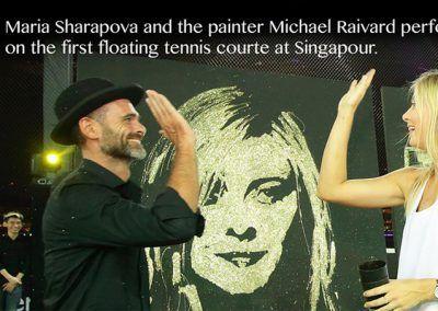 Speed Painting Maria Sharapova Singapore Tag heuer corporate event Michael Raivard