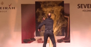 Glitter Painting Live Painter Barhein Jumeirah Royal Saray Michael Raivard 2