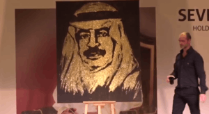 Glitter Painting Speed Painter Barhein Jumeirah Royal Saray Michael Raivard 3