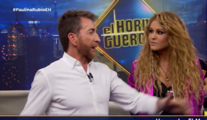 speed painter Paulina Rubio en El Hormiguero 3.0 Madrid Spain glitter painting raivard